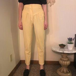 Vintage Yellow Corduroy Pants